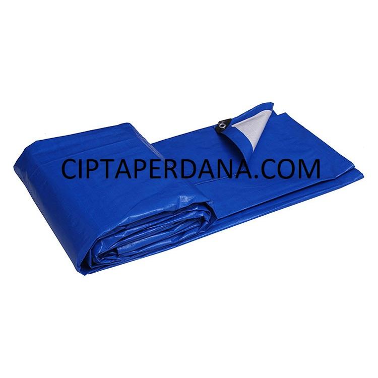 Terpal Plastik Tahan Air Ukuran 2 Meter - 4 Meter - Lembar Warna Biru Roll PE Terpaulin